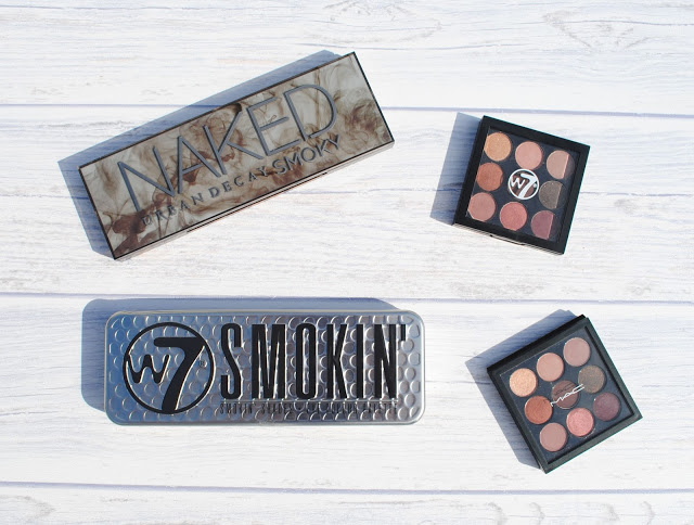 W7 Smokin  Palette Vs  Naked Smoky Palette и  W7 The Naughty Nines – Mid Summer Nights vs MAC Burgundy Times Nine